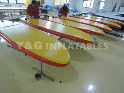 Yellow Inflatable Paddle Board With Seat