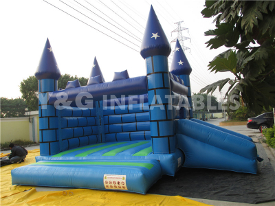 Blue Castle with small slide   YC-12