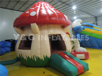 The Smurfs Inflatable Combo Bouncer Slide   YCO-24
