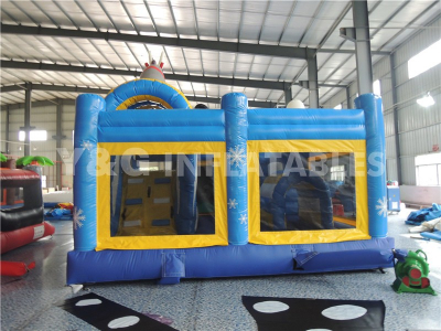 Frozen Inflatable Castle With Slide   YCO-32
