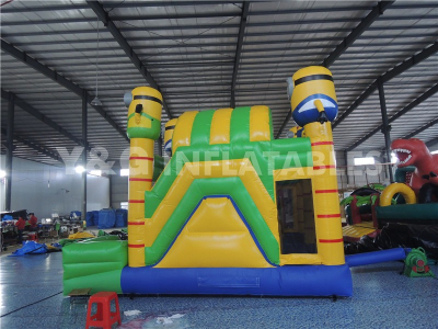 Minions Inflatable Castle With Slide   YCO-34