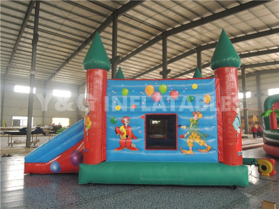 Clown Inflatable Combo Bouncer Slide   YCO-40