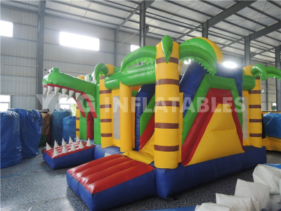 Crocodile Inflatable Castle With Slide   YCO-44