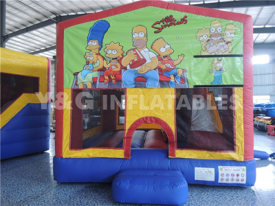 Simpsons Slip And Slide Bounce House