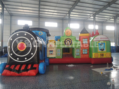 Train Obstacle Jumpin Inflatable Theme Park