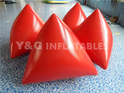 Inflatable Red trangle buoy   YPD-07