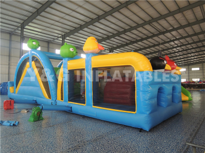 Angry Bird Inflatable Obstacle slide   YO-30