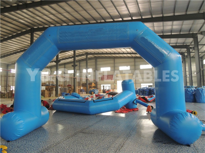 Blue Inflatable Finish line Arch