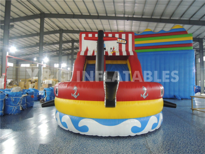 Pirate Ship Backyard Inflatable Water Slide