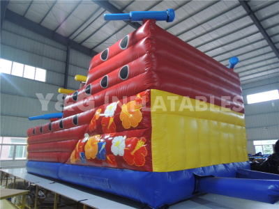 Interactive inflatable pirate boat slide   YS-05