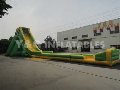 Green yellow inflatable hippo slide   YS-35