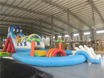 Inflatable Water Slide With Pool   YS-31