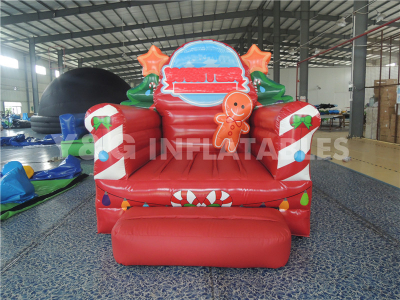 Santa Outhouse Inflatable