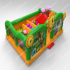 Plants Vs Zombies Sunflower Inflatable Funland-green  YNN-25