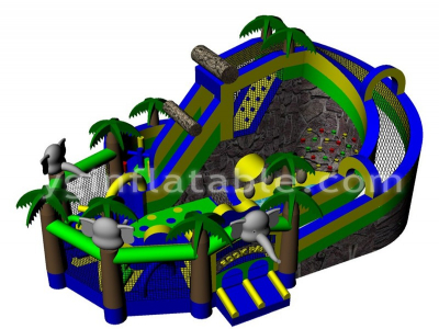 Jungle Elephant Inflatable Obstacle   YNN-27