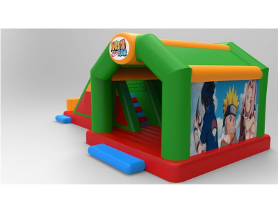Naruto green bouncer with slide   YNN-62