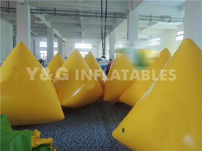 inflatable yellow buoy  customized logo  YW-28
