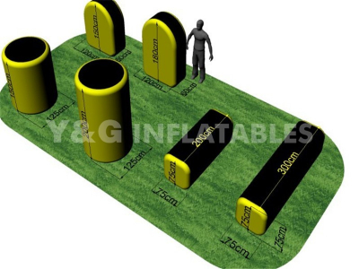 Inflatable Yellow Paintball Bunkers   YSP-44
