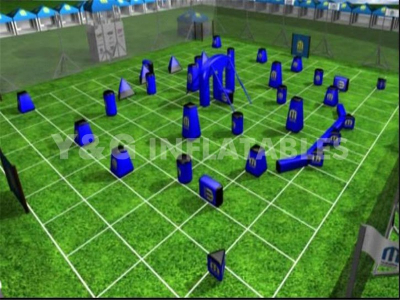 Inflatable blue paintball bunkers   YSP-43