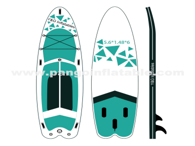 Green Graphics Inflatable Paddle Board