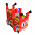 Fire engine inflatable obstacle game
