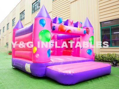 Romantic Balloon Theme Slide And Bounce