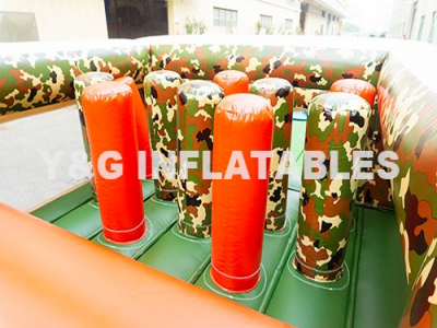 Camouflage Indoor Inflatable Obstacle Course