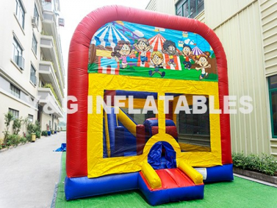 Fun City Inflatable Bouncy Castle With Slide