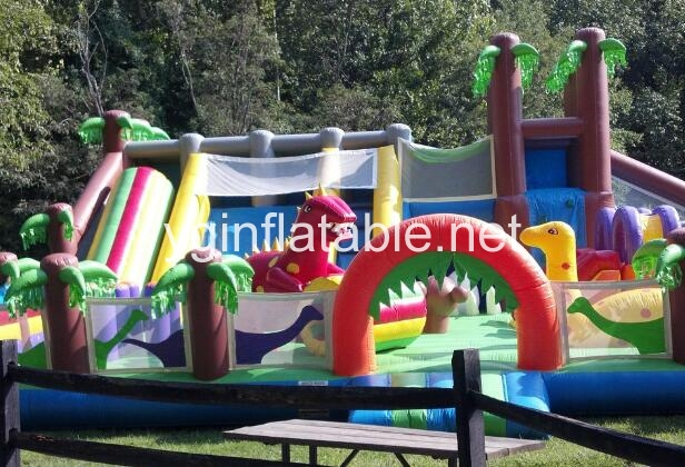 An inflatable fun city is good